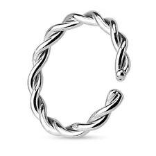 Septum Fake Ohr Piercing Nasenpiercing Ring gedreht Silber IP