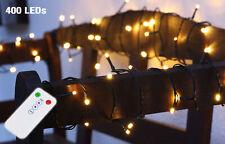 Weihnachtsbaum Lichterkette warmweiß - 200-400 LED - 8 Funktionen Fernbedienung