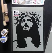 Jesus Stencil Crown Of Thorns Art Craft Wall Décor Paint Reusable Ideal Stencils