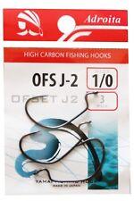 Adroita Worm Hook Offset Shank Fishing Hacken Raubfisch Angelhaken OFS J-2