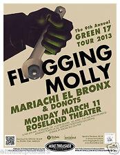 FLOGGING MOLLY / MARIACHI EL BRONX / DONOTS 2013 PORTLAND CONCERT TOUR POSTER
