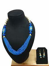 New Indian Ethnic Bollywood Style Bridal Wedding Fashion Jewelry Necklace Set