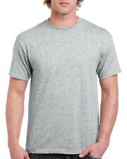 Gildan Deportes Gris Heavy Cotton T Shirt para hombre Plain Camiseta: S M XL XXL 3XL - 5XL