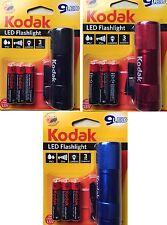 Kodak 9 LED Linterna 64 lúmenes, ip62, 25m GAMA CON PILAS AAA