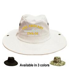 100% Cotton Digital Boonie Bush Hiking Outdoor Hat USS ORISKANY CVA-34 SHIP
