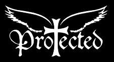 Protected Christian Vinyl Car Window Laptop Bible Decal Sticker Christ Jesus