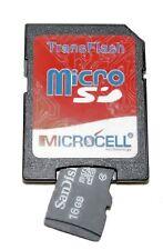 Micro SD móvil tarjeta de memoria + Adaptador SD - 16gb para teléfonos móviles compatibles - 1