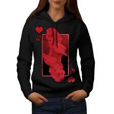 Queen of Heart Red Casino Women Hoodie NEW | Wellcoda