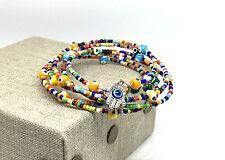 Hansa Evil Eye Memory Wire Bracelet Handmade Bracelet Ladys Evil Eyes  Bracelet