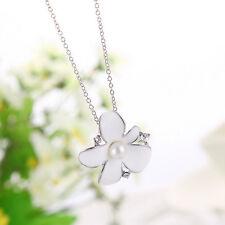 Halskette mit Anhänger Kette Schmuck Geschenk Kristall Weihnachtsgeschenk Blume