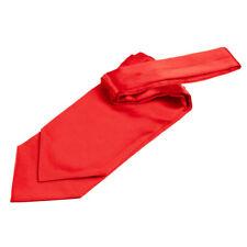PREMIO di raso pianura solido levigato Formale Matrimonio Ascot Auto-Tie Cravatta-Rosso