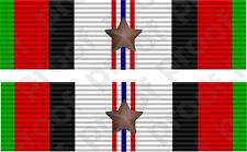 STICKER MILITARY RIBBON AFGANISTAN 1 STAR