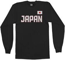 Threadrock Men's Japan National Team Long Sleeve T-shirt tokyo flag