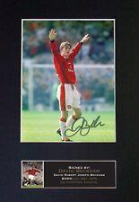 DAVID BECKHAM MAN UTD Mounted Signed Photo Reproduction Autograph Print A4 669