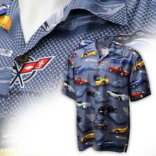 Corvette Men's C5 Camp Shirt Graphite Gray 637505