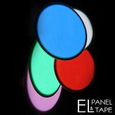 6cm EL Panel Circle - Electroluminescent Glow Paper Foil Disc Sheet in 5 colours