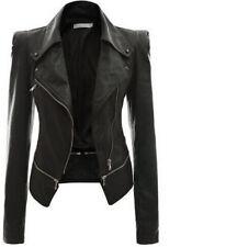 Stylish-Vintage-Womens-Slim-Motorcycle-Leather-Soft-Leather-Zipper-Jacket-Coat