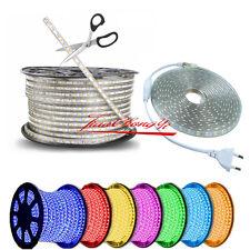 1/2/5/10M 5050 60 SMD  Waterproof IP67 Flexible LED Light Strip Lamp 220V XMAS