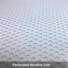 White Perforated One Way Vision Window Vinyl Film Wrap Car Headlight Tint