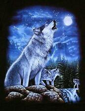T-Shirt Wolf heulend, Gr.S,M,L, Country Biker USA Trucker, Indianer Mond Wölfe