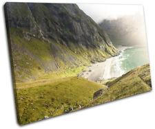 Mountains Ocean Mist Landscapes SINGLE TELA parete arte foto stampa