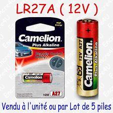 Pile Spécifique Alcaline : LR27A 27A A27 MN27 GP27A 12V : vendue x 1 ou par 5