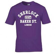 "Sherlock Holmes "" 221B de Baker St. Londres"" T Shirt Nueva"