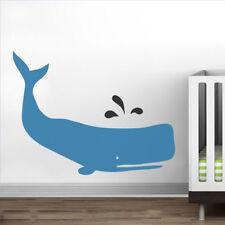 Baby Zoo Whale Wall Sticker Ocean Sea Blue Boys Kids Room Home Vinyl Decor Gift