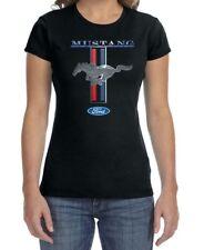 Ladies Crewneck T-Shirt Ford Mustang Shirt Mustang Stripe