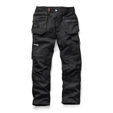 Scruffs Trade Flex Slim Fit Work Trousers Black (Various Sizes) Mens Hardwearing