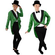 Green Sequin habit Danse Costume Unisexe Homme Femme Déguisement Cabaret Spectacle
