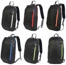 Zaino zainetto borsa nero nylon 600D con particolari colorati 39 x 23 x 16 cm