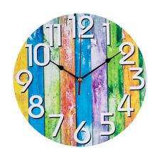 Large Non Ticking Clock Decorative Battery Operated Quartz Analog Wall Clock