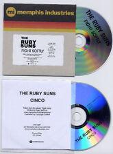 RUBY SUNS Fight Softly 2010 UK DJ promo CD + bonus disc