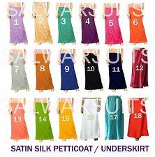 Satin Silk Sari Petticoat Inskirt Saree Lining Underskirt PartyWear Indian Dress