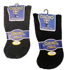 3 Pair Mens Extra-Wide Comfort fit Diabetic Socks Browns Black Darks size 6-11