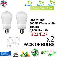 Kosnic basso energydecor GLS 20w BC/ES b22/e27 Cfl Lampada Bianco Caldo
