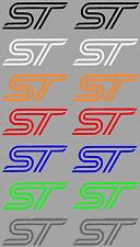 Aufkleberset Sticker 2 Stück Focus Fiesta ST Logo in verschiedenen Farben