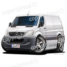 Mercedes Sprinter Van - Vinyl Wall Art Sticker - White