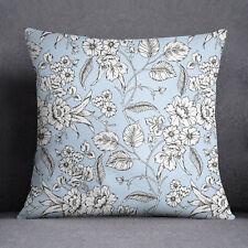 S4Sassy coussin canapé bleu clair housse oreiller imprimé Floral- PAR-SUB-SAS45L