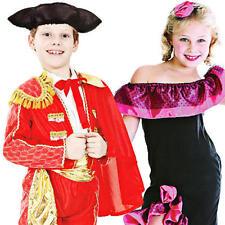 Robe national espagnol enfants costumes FLAMENCO MATADOR enfants robe fantaisie nouveau