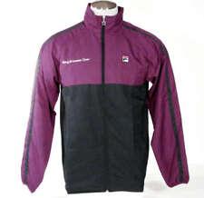Fila Sony Ericsson Open Hooded Tennis Jacket Purple & Navy Blue Men's NWT