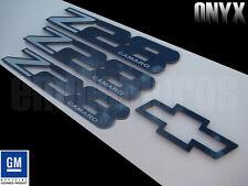 GM LICENSED, 93-02 CAMARO Z28 BLACK MIRROR STAINLESS STEEL BADGE EMBLEM SET ONYX