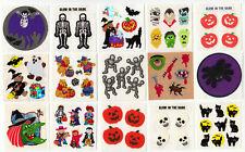 Vintage Sandylion Halloween Glow in the Dark Fuzzy Stickers Vampire - You Choose