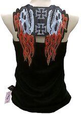 Rockabilly punk rock Baby Biker Hell Fire Skull Tank Top camisa XS/s/M/L/XL/XXL
