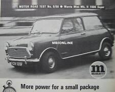 1968 Morris Mini MkII 1000 Super Original Motor magazine Road test