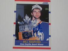 BILL RANFORD  AUTOGRAPHED 1990 SCORE CONN SMYTHE CARD