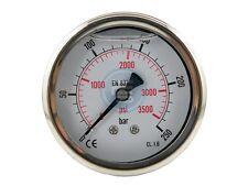 """Glycerinmanometer waagerecht Ø 63 mm Chromnickelstahl-Messing G 1/4"""""""