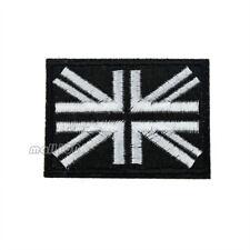 UK United Kingdom Union Jack Black Border Iron on Patch National Flag Patch