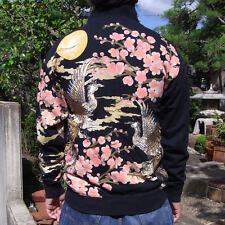 Japanese Pattern Sukajan Jacket Cotton Embroidery Mens Coat Totem Phoenix Sakura